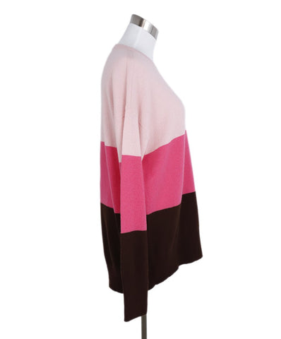 Moncler Pink Fuchsia Brown Cashmere Sweater 1