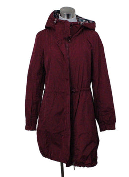 Moncler red burgundy nylon jacket