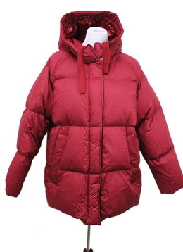 Moncler Red Polyamide Down Coat