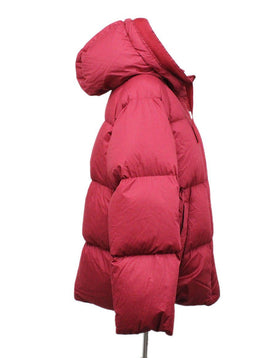 Moncler Red Polyamide Down Coat 1
