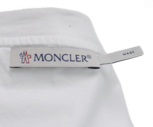 Moncler White Cotton Zipper Top 3