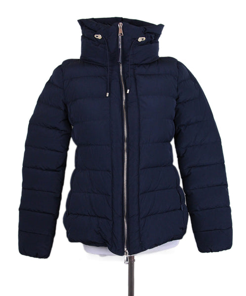 Moncler Blue Navy Down Lining Coat Sz. 0