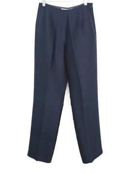 Morgan Le Fay Navy Silk Pants 1