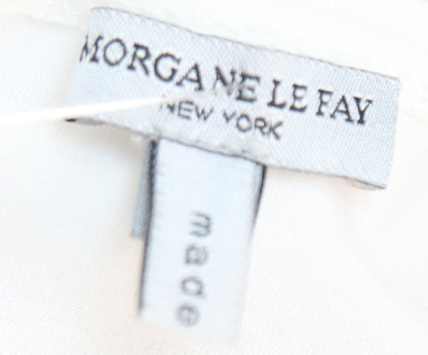 Morgan Le Fay White Cotton Ruffle Trim Dress 4