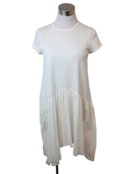 Morgan Le Fay White Cotton Ruffle Trim Dress 1