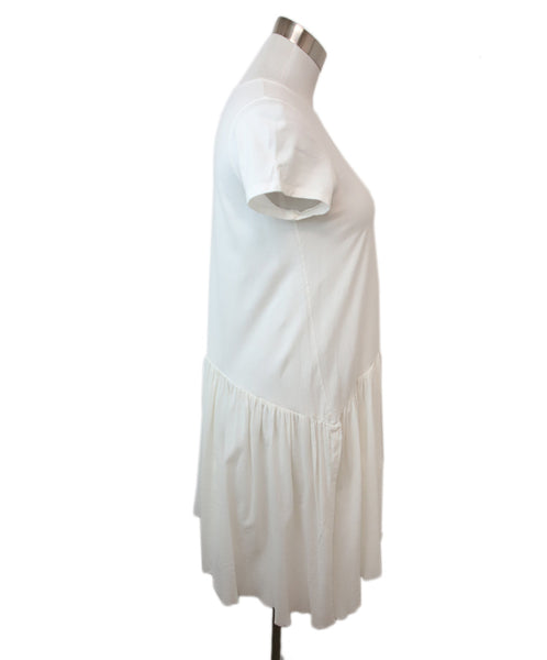 Morgan Le Fay White Cotton Ruffle Trim Dress 2