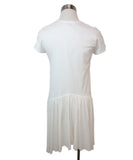 Morgan Le Fay White Cotton Ruffle Trim Dress 3
