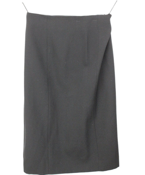 Moschino Black Wool Pencil Skirt 1