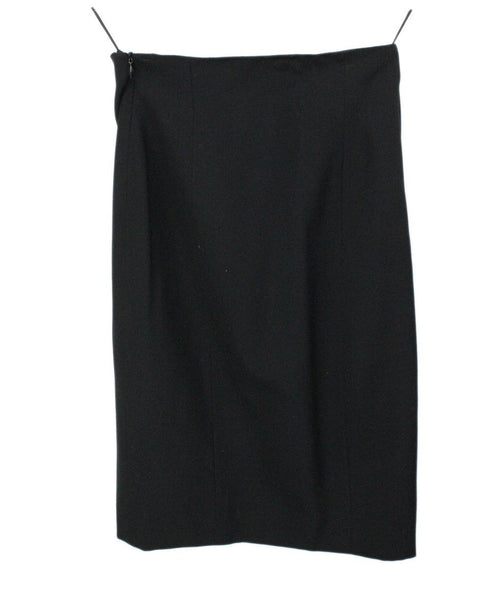 Moschino Black Wool Pencil Skirt 2