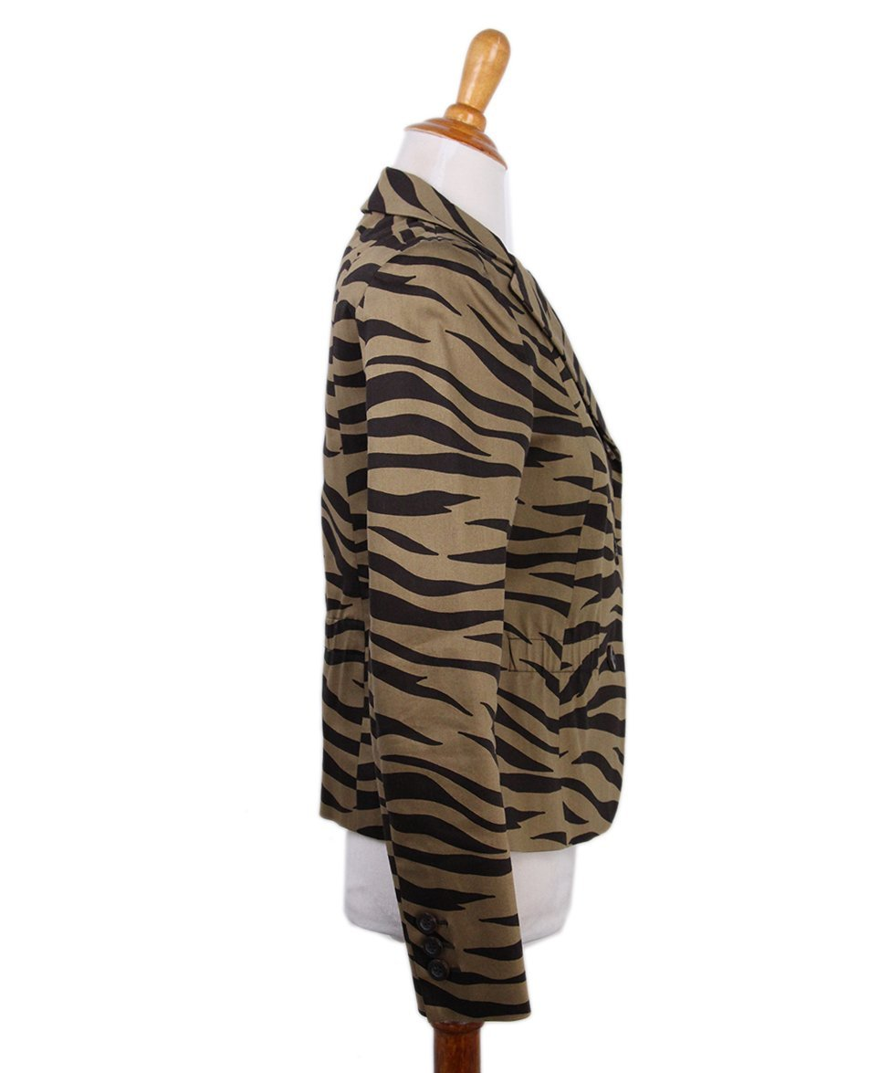 Moschino Brown Tan Animal Print Jacket 2