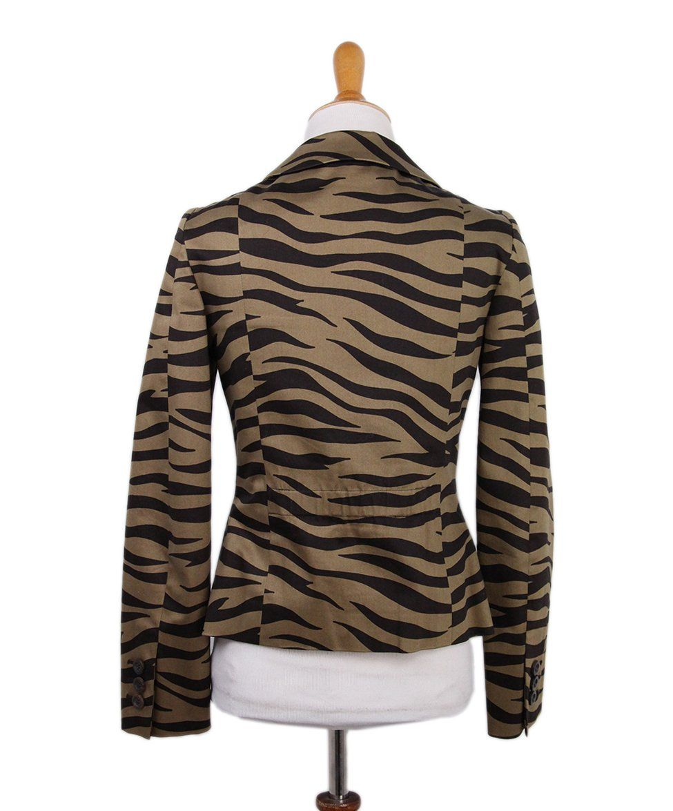 Moschino Brown Tan Animal Print Jacket 3