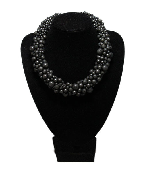 Moschino Grey Beaded Necklace 1