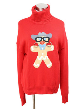Moschino Red Wool Sweater 1