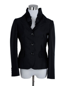Moschino Black Silk Jacket 1