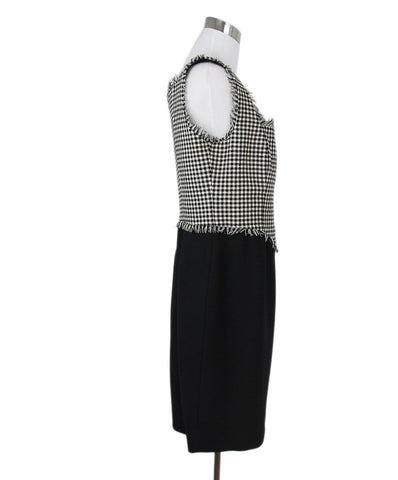 Moschino black white check dress 1