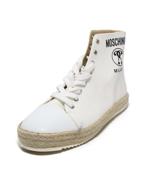 Moschino White Canvas Espadrilles Sneakers 1