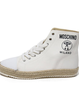 Moschino White Canvas Espadrilles Sneakers 2