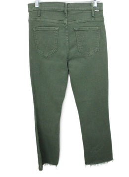 Mother Green Olive Denim Pants 2