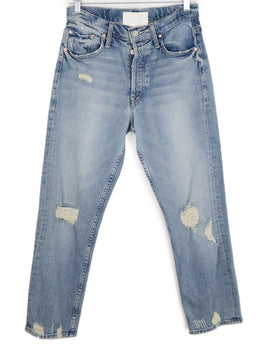 Mother Blue Denim Pants 1