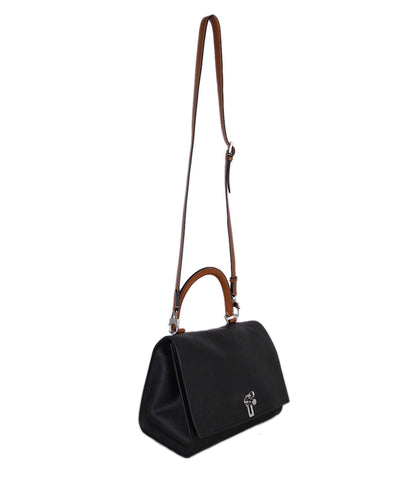 Moynat Black Tan Leather Crossbody 1