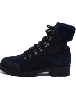 Mr.& Mrs. Italy Blue Navy Suede Sherpa Lining Boots 2