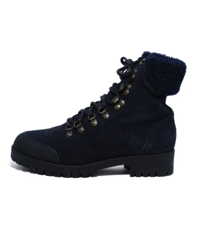 Mr.& Mrs. Italy Blue Navy Suede Sherpa Lining Boots 1