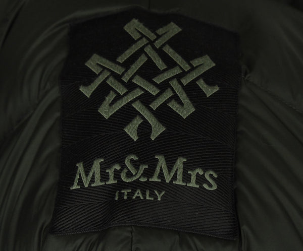 Mr.& Mrs. Italy Olive Green Fox Fur Trim Coat 4