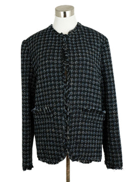 Msgm Black White Silver Cotton Polyamide Jacket 1