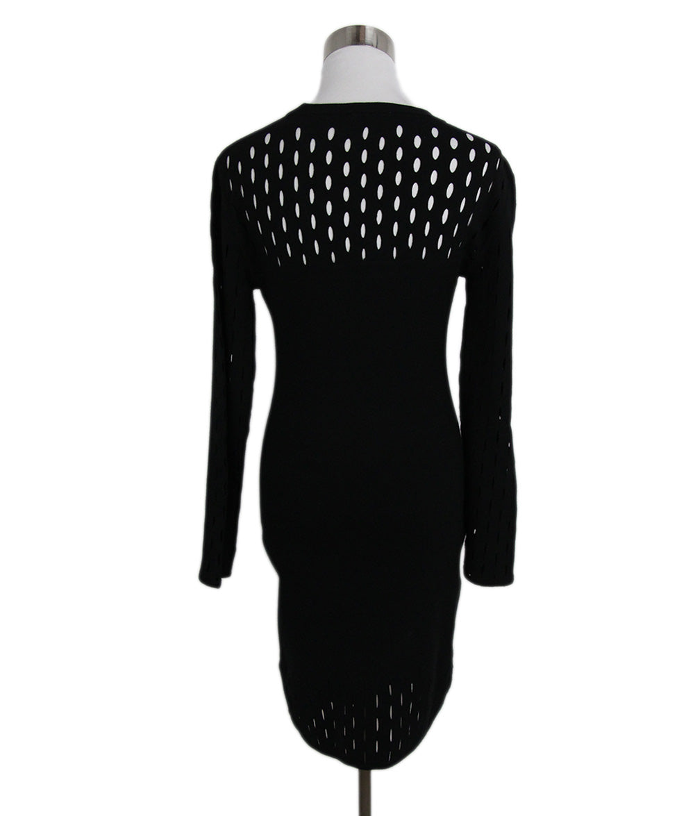 Mugler Black Viscose Polyester Dress 3