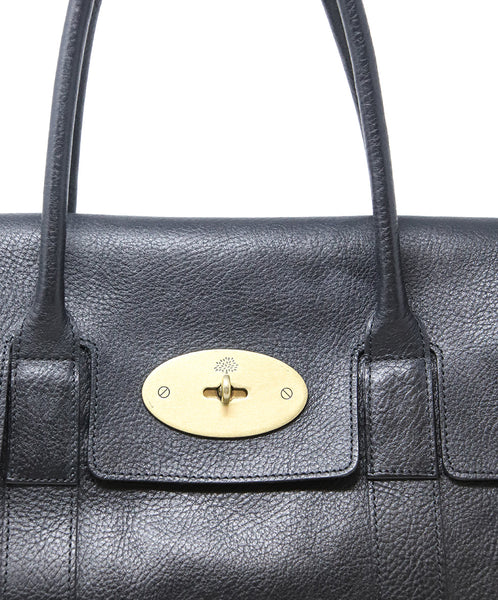 Mulberry Black Leather Shoulder Bag 10