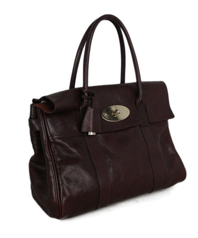Mulberry wine leather satchel 1