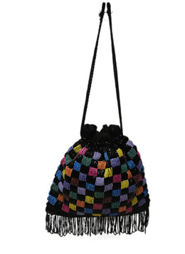Black Multi Beaded Handbag 1