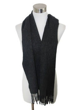 N.Peal Grey Charcoal Cashmere Scarf 1