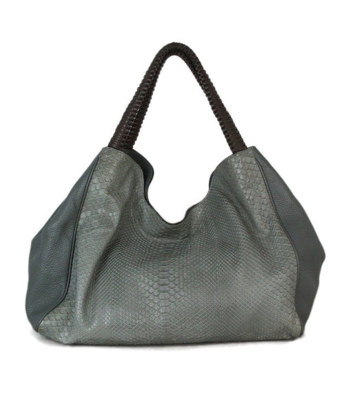 Nada Sawaya Mint Snake Skin Shoulder Bag 1