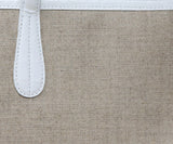 Nancy Gonzalez Beige Coated Linen Tote 9