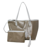 Nancy Gonzalez Beige Coated Linen Tote 6