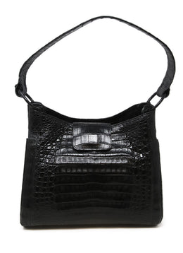 Nancy Gonzalez Black Crocodile Leather Shoulder Bag  1