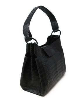 Nancy Gonzalez Black Crocodile Leather Shoulder Bag 2