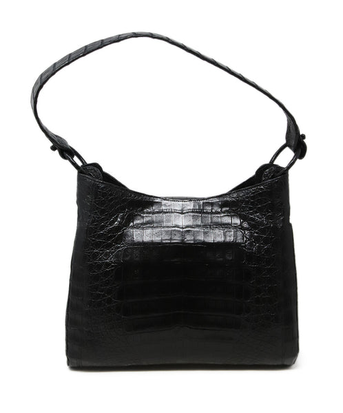 Nancy Gonzalez Black Crocodile Leather Shoulder Bag 3