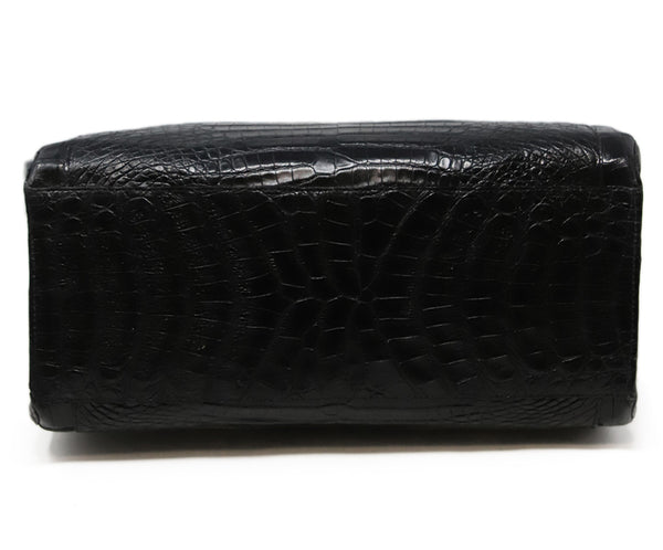 Nancy Gonzalez Black Crocodile Leather Shoulder Bag 4