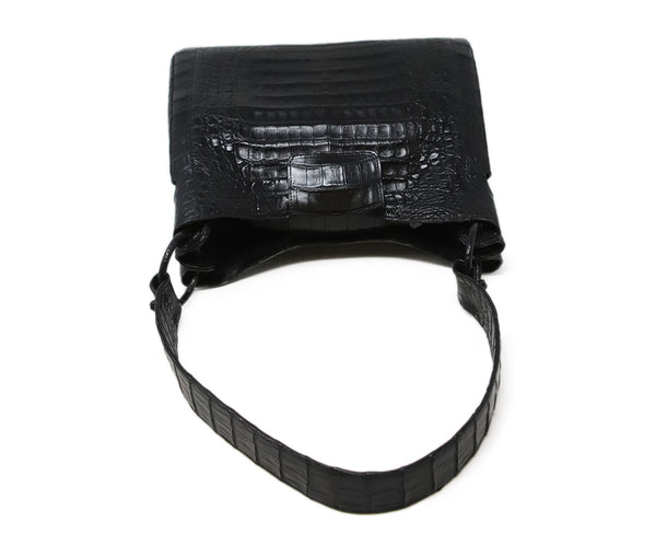 Nancy Gonzalez Black Crocodile Leather Shoulder Bag 5