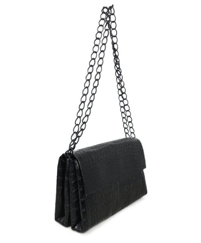 Nancy Gonzalez Black Crocodile Flap Bag 1\
