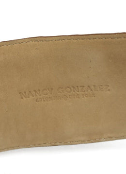 Nancy Gonzalez Brown Tan Crocodile Belt