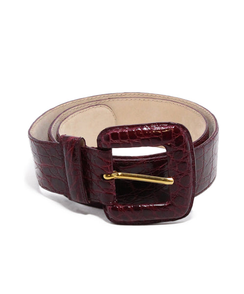 Nancy Gonzalez Burgundy Crocodile Belt 1