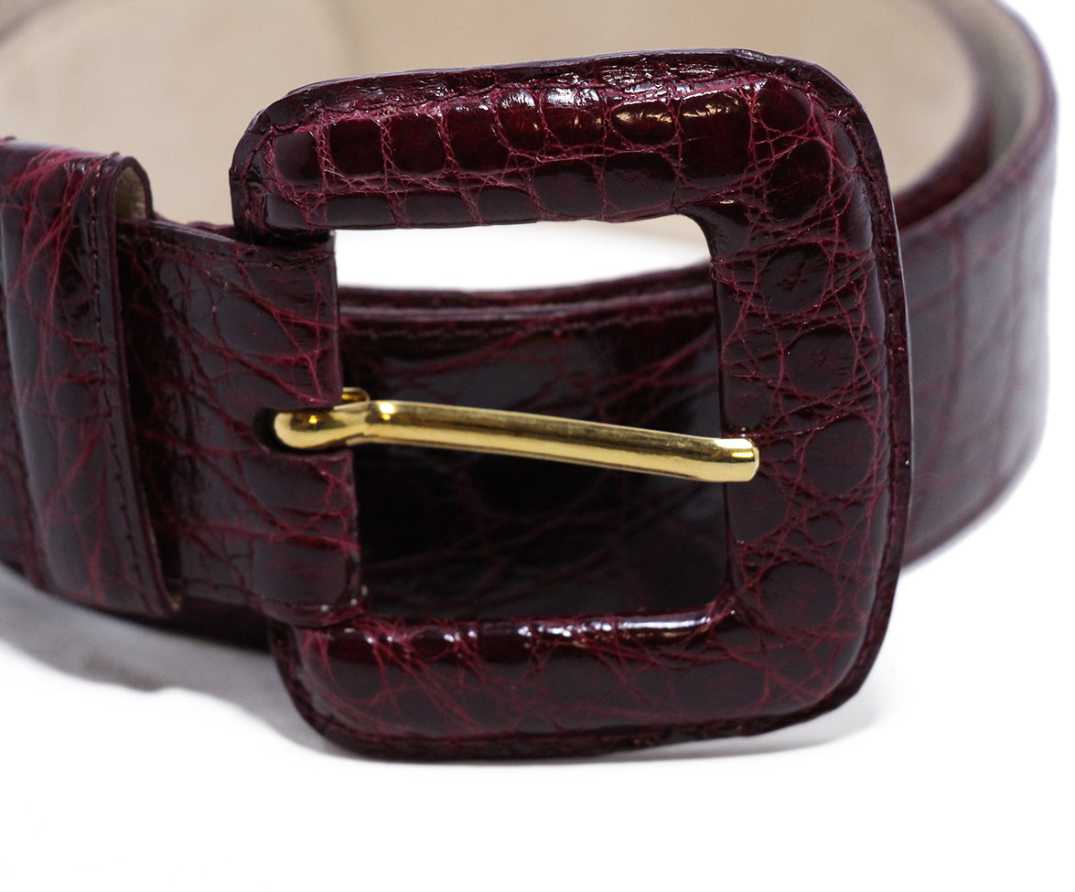 Nancy Gonzalez Burgundy Crocodile Belt 3