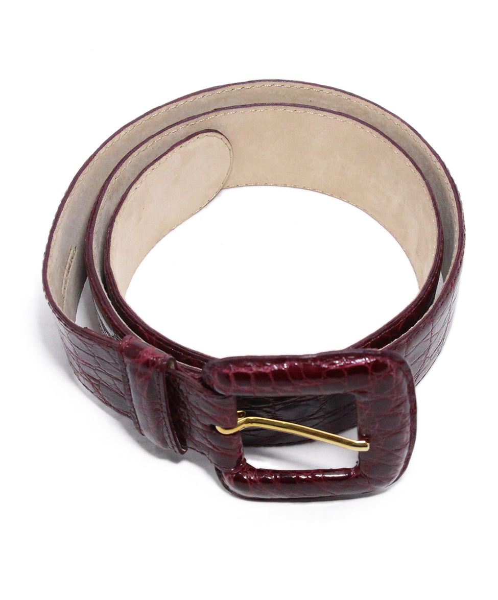 Nancy Gonzalez Burgundy Crocodile Belt 2