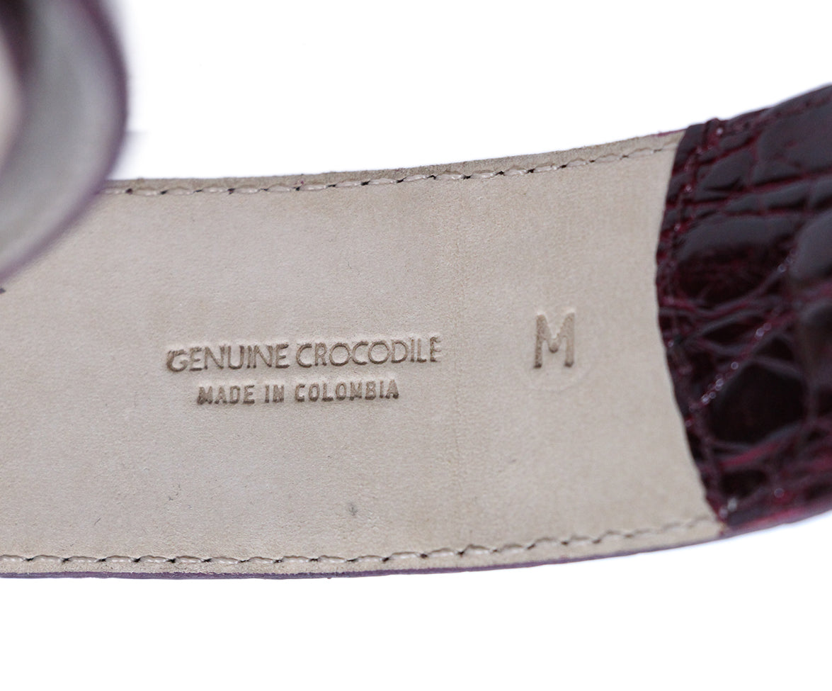 Nancy Gonzalez Burgundy Crocodile Belt 4