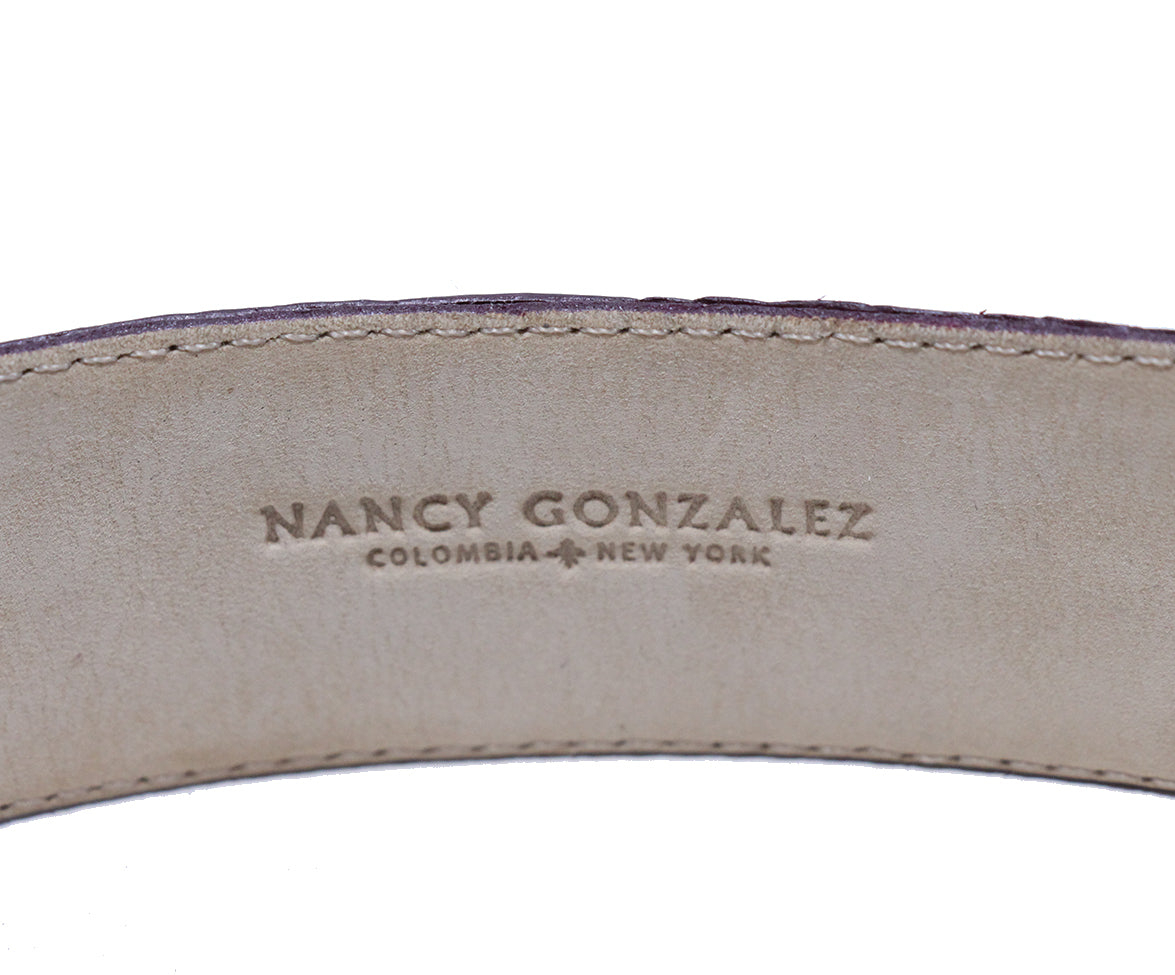 Nancy Gonzalez Burgundy Crocodile Belt 5
