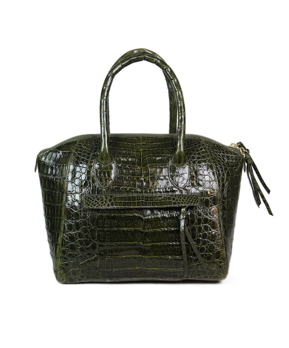Nancy Gonzalez Green Alligator Handbag 1