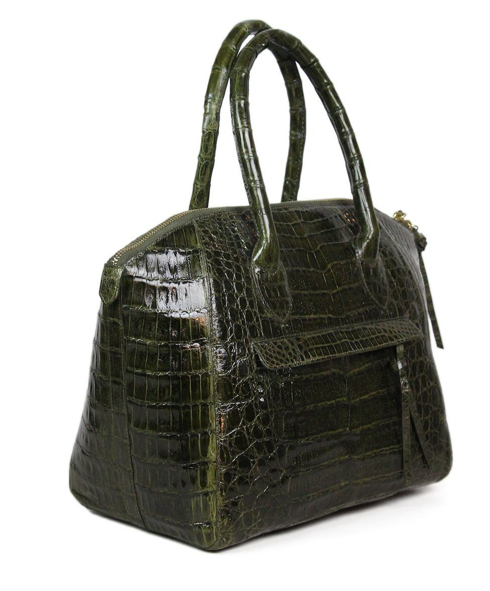 Nancy Gonzalez Green Alligator Handbag 2